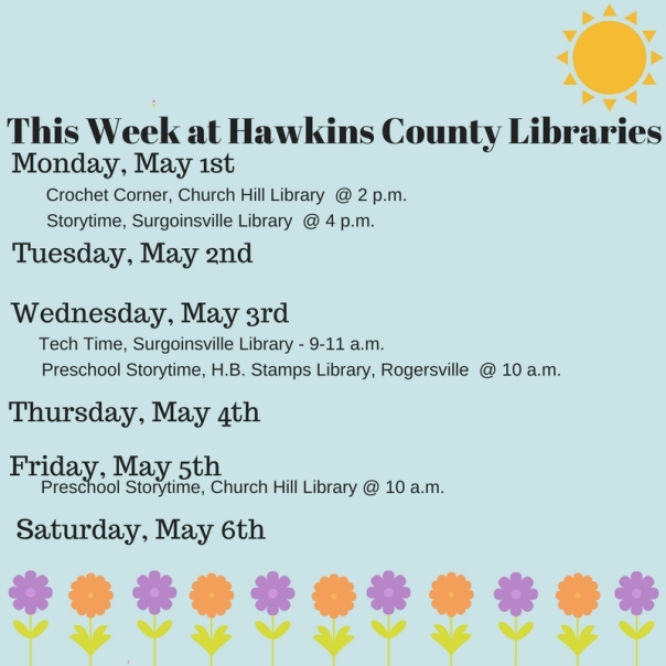 Copy of Copy of This Week at Hawkins County Libraries