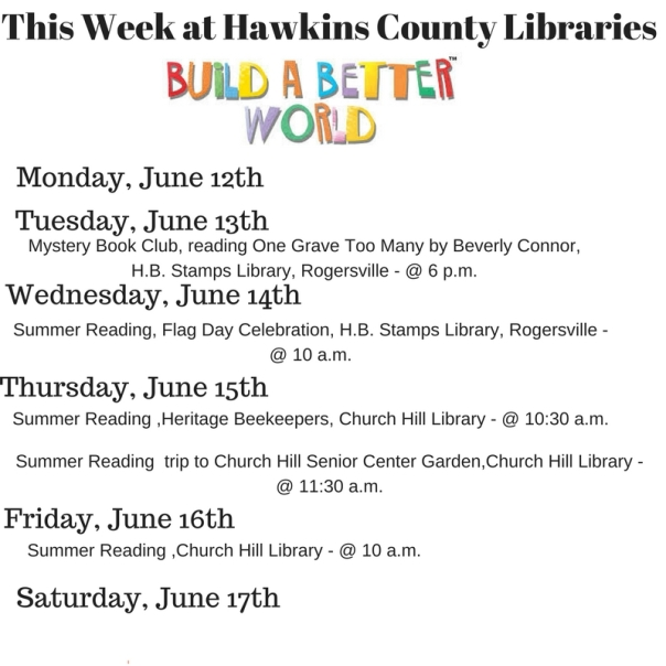 Copy of Copy of Copy of This Week at Hawkins County Libraries