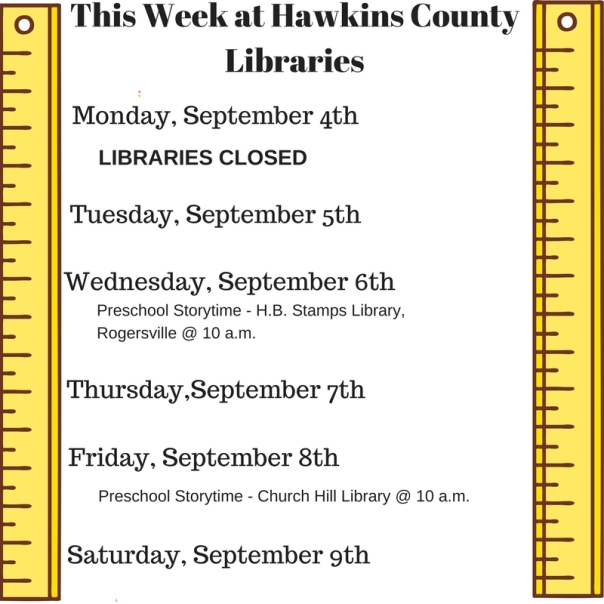 Copy of Copy of Copy of Copy of This Week at Hawkins County Libraries