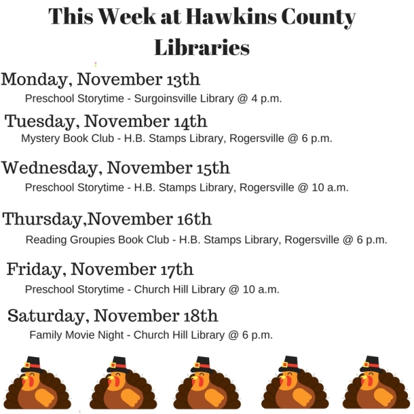 Copy of Copy of Copy of Copy of Copy of Copy of Copy of Copy of Copy of Copy of This Week at Hawkins County Libraries